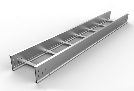 Solid bottom cable tray